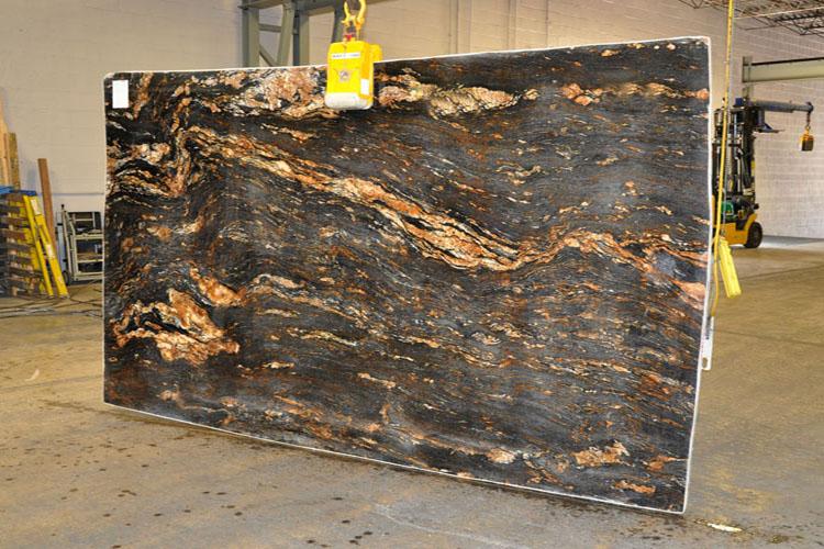 Magma Black Granite : Chicago granite countertops