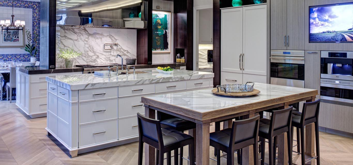 White Calacatta Marble Countertops